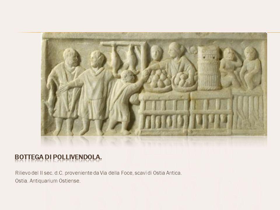 Rilievo del II sec.d.C. proveniente da Via della Foce, scavi di Ostia Antica.