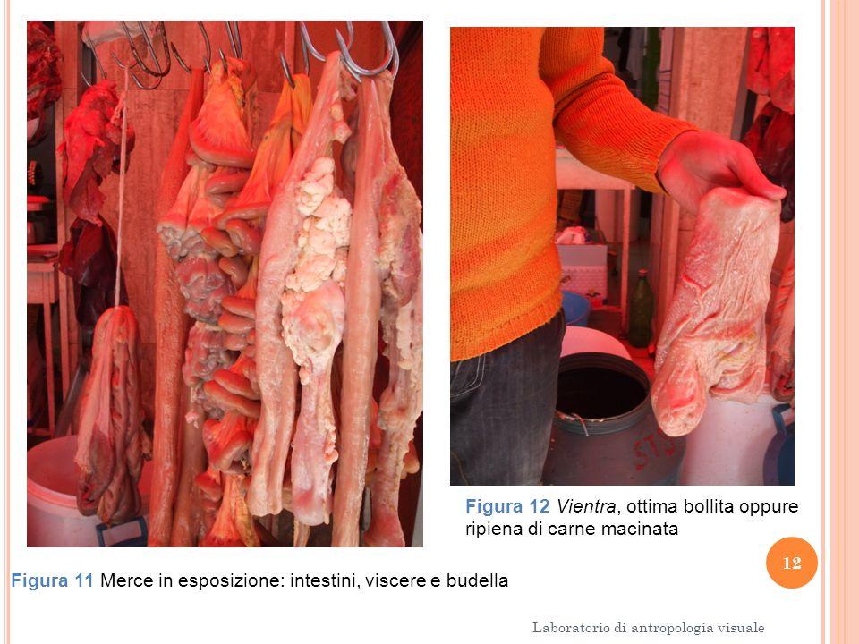 12 Laboratorio di antropologia visuale Figura 11 Merce in esposizione: intestini, viscere e budella Figura 12 Vientra, ottima bollita oppure ripiena d