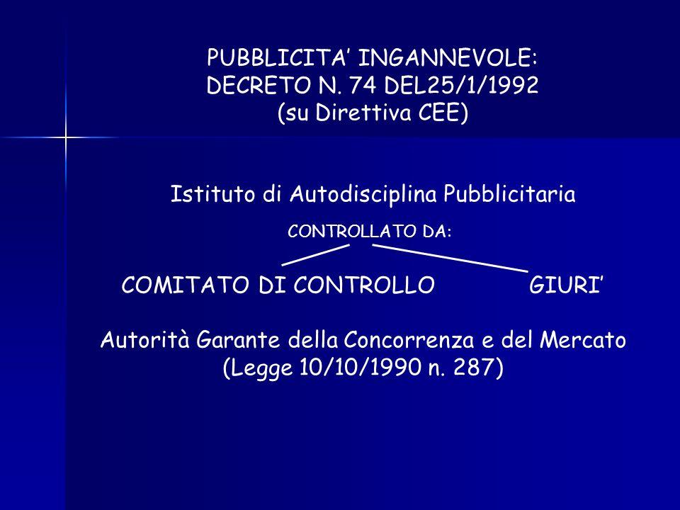 COMMERCIALE VENDITA INFORMATIVA NON COMMERCIALE INFORMAZIONE COMMERCIALE INFORMATIVA INFORMAZIONE E VENDITA PUBBLICITA ALIMENTARE