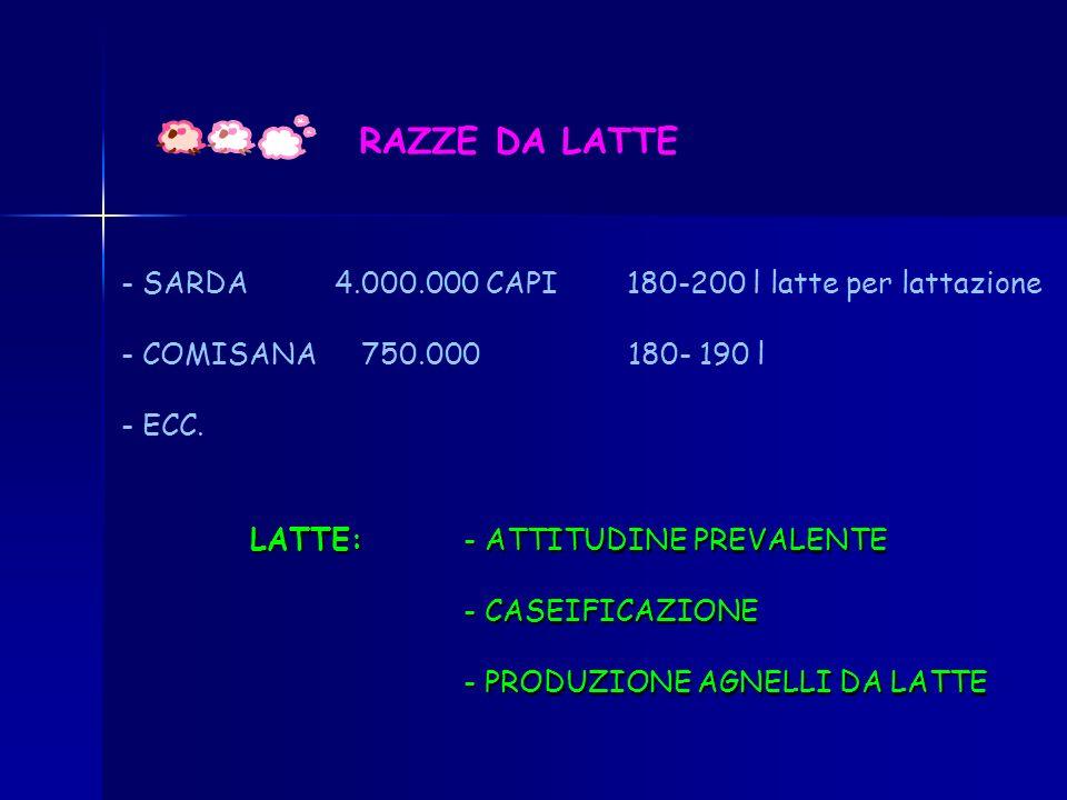 ATTUALMENTE IN ITALIA: TENDENZA ALLAUMENTO DELLA STANZIALITA
