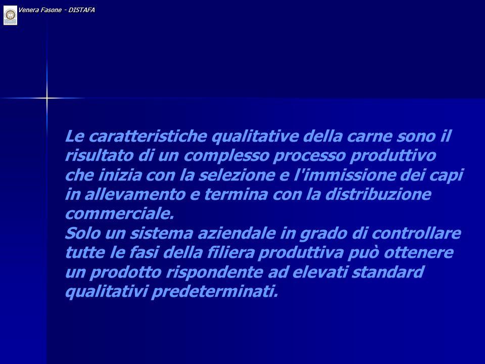 Approfondimento: Qualità della carne in relazione al processo produttivo Dr. Venera Fasone - DISTAFA