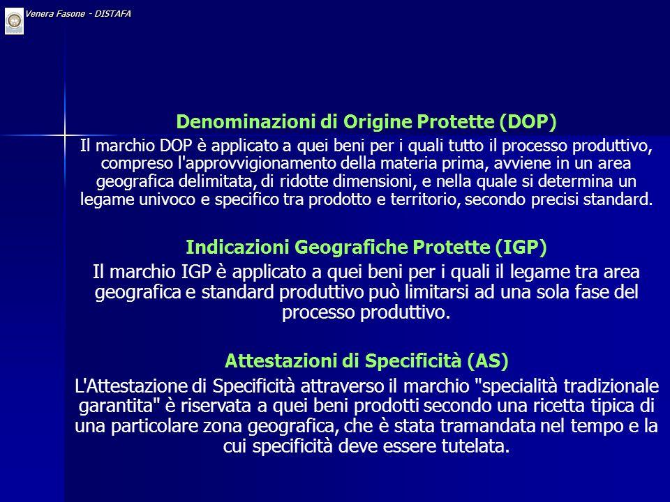 Dr. Venera Fasone - DISTAFA Tramite i regolamenti 2081/92 e 2082/92 il Consiglio dell'Unione Europea ha stabilito le norme relative alla definizione e