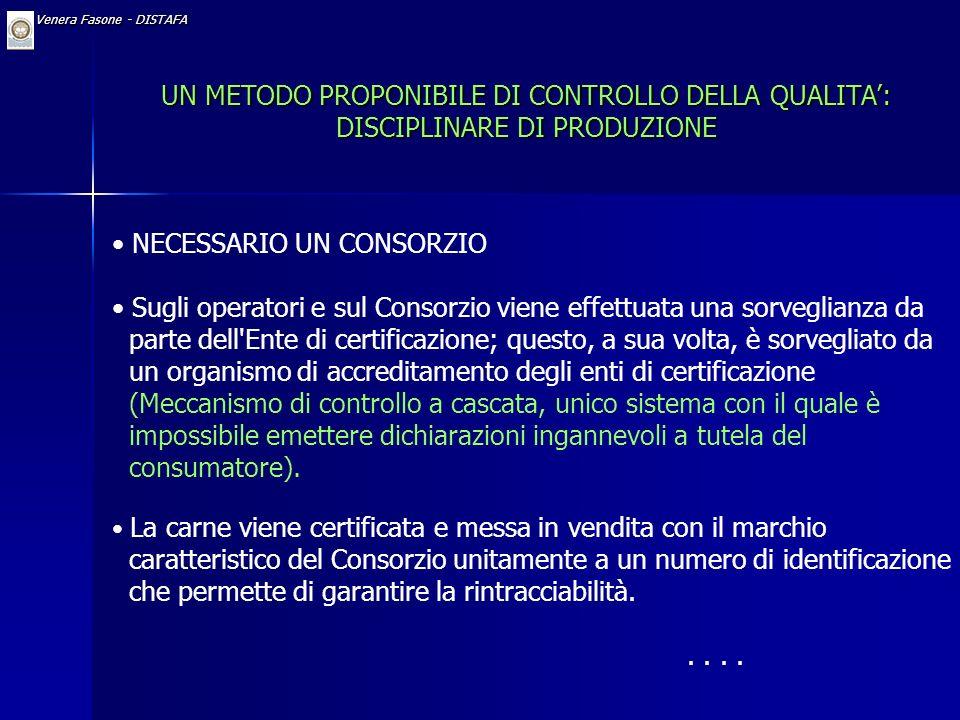 Dr. Venera Fasone - DISTAFA Denominazioni di Origine Protette (DOP) Il marchio DOP è applicato a quei beni per i quali tutto il processo produttivo, c
