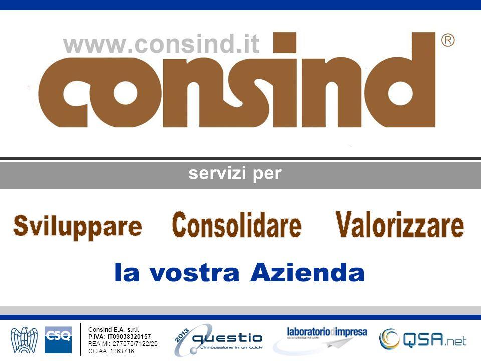 servizi per Consind E.A. s.r.l. P.IVA: IT09038320157 REA-MI: 277070/7122/20 CCIAA: 1263716