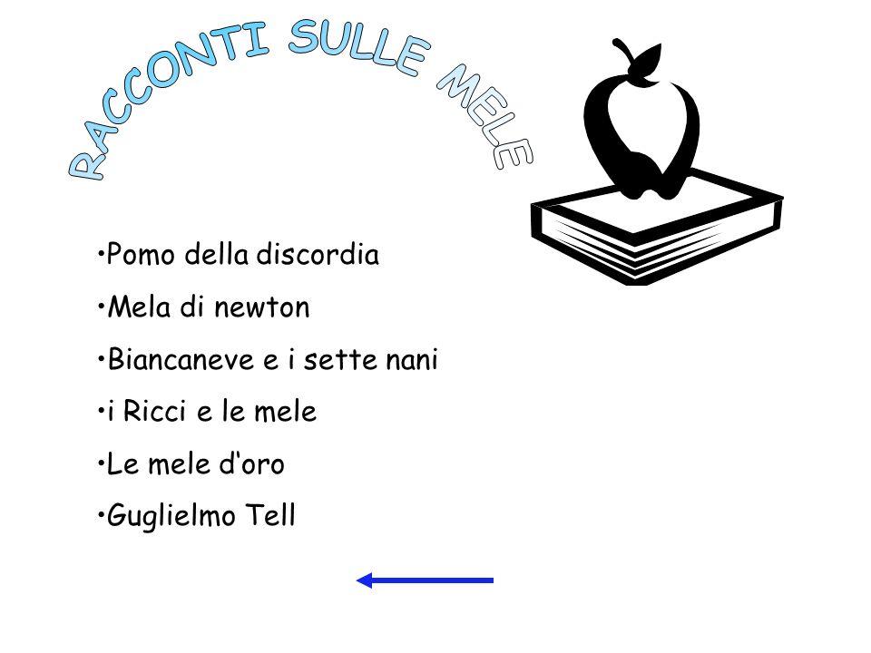 Pomo della discordia Mela di newton Biancaneve e i sette nani i Ricci e le mele Le mele doro Guglielmo Tell