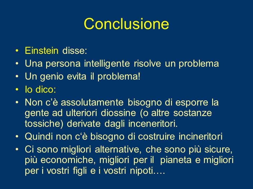 Conclusione Einstein disse: Una persona intelligente risolve un problema Un genio evita il problema! Io dico: Non cè assolutamente bisogno di esporre