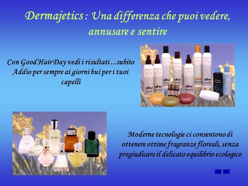 Dermajetics : Una differenza che puoi vedere, annusare e sentire Con Good Hair Day vedi i risultati...subito Addio per sempre ai giorni bui per i tuoi