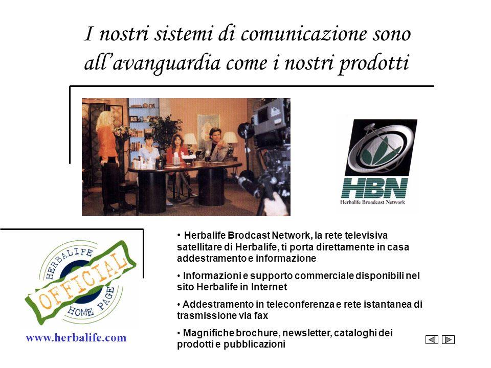 I nostri sistemi di comunicazione sono allavanguardia come i nostri prodotti www.herbalife.com Herbalife Brodcast Network, la rete televisiva satellit
