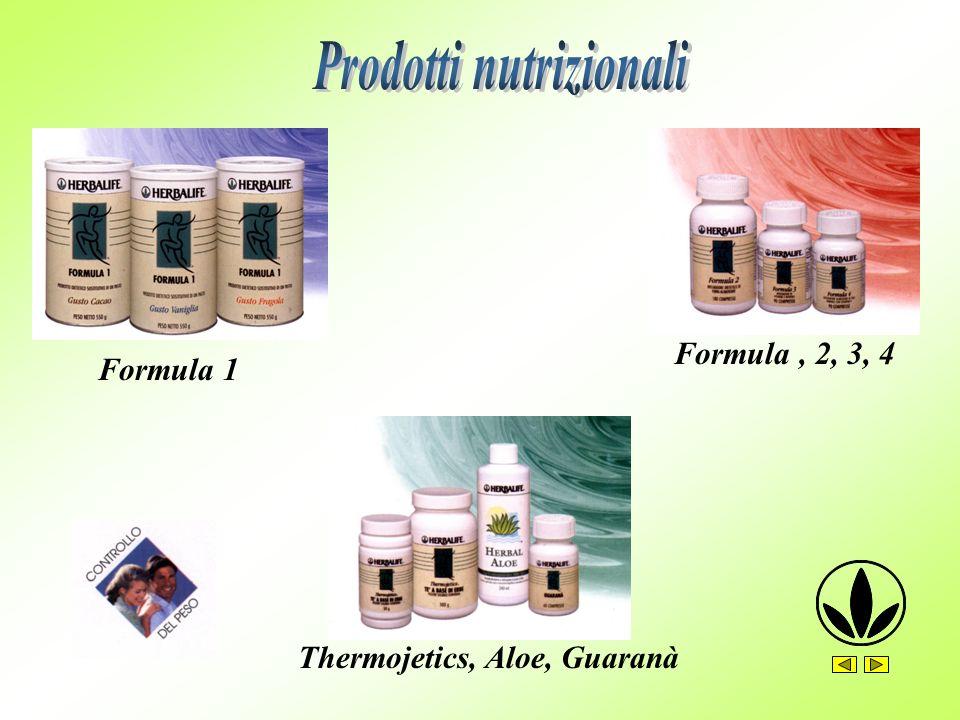 Formula 1 Formula, 2, 3, 4 Thermojetics, Aloe, Guaranà