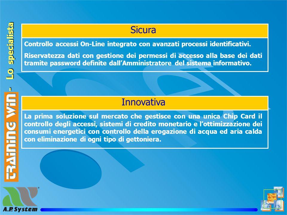 Training win - Lo specialista Sicura Controllo accessi On-Line integrato con avanzati processi identificativi.