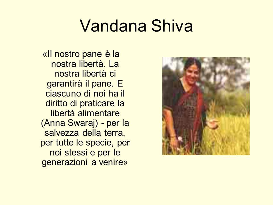 Vandana Shiva «Il nostro pane è la nostra libertà. La nostra libertà ci garantirà il pane. E ciascuno di noi ha il diritto di praticare la libertà ali