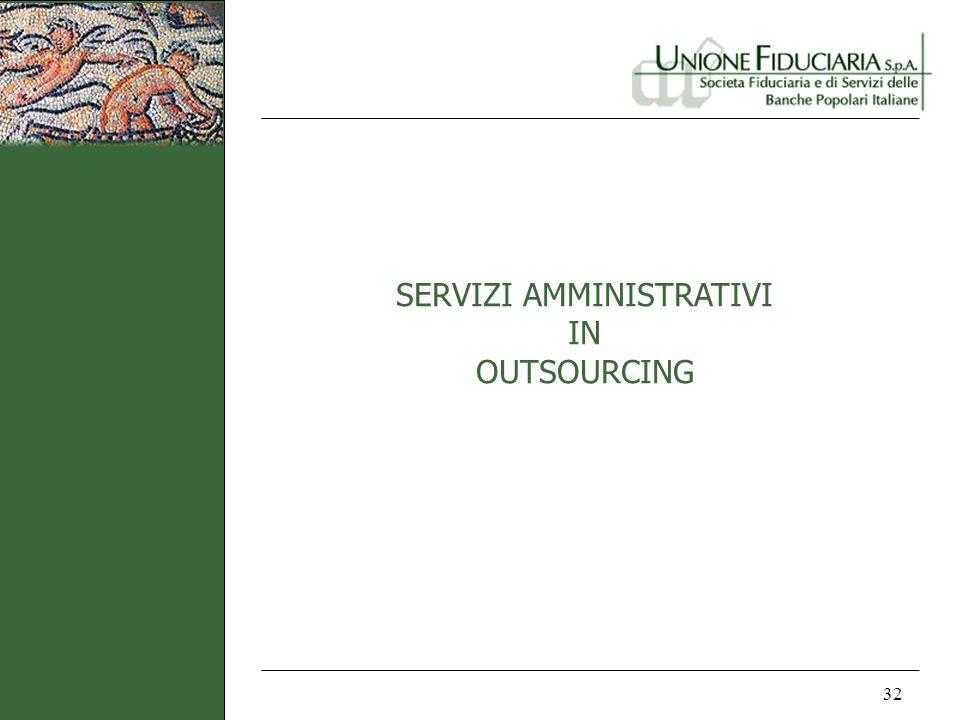SERVIZI AMMINISTRATIVI IN OUTSOURCING 32