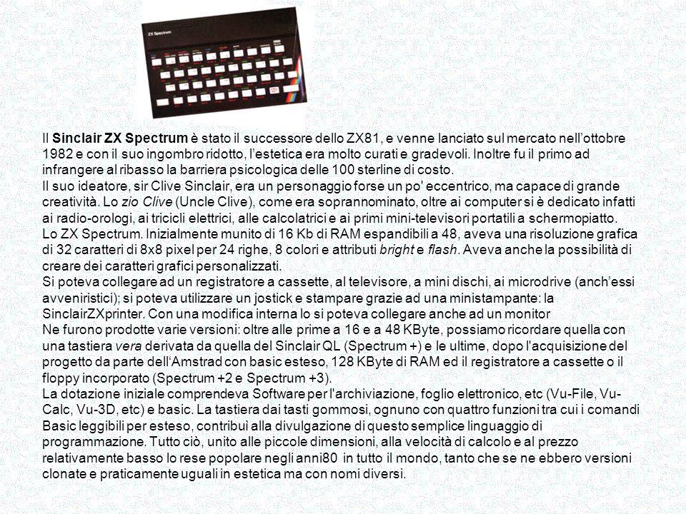 Ecco il primo pc italiano Lolivetti M20 nato nel 1984 Caratteristiche principali: CPU Zilog Z8001 CPU @ 8 MHz RAM 128Kbyte RAM statica (6116) ROM 8Kbytes EPROM per boostrap e diagnostici altre fonti indicano 12k PROM Storage 1 floppy drive da 320kb o 160KB o 640 kb Tastiera integrata nel case a 72 tasti Display interfaccia per video esterno con risoluzione 512 x 256, 4 o 8 colori, grafico InterfaccieParallela centronics, 2 seriali RS232-C tra le opzioni un hard disk da 11.25MB con relativa scheda controller, schede di espansione di memoria da 32 o 128kb (fino al massimo di 512kb), interfaccia iee488.