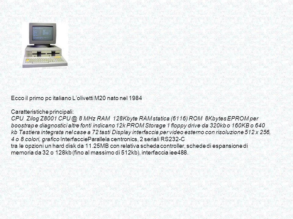 In gennaio 1984 viene annunciato dalla Apple il personal computer Macintosh.