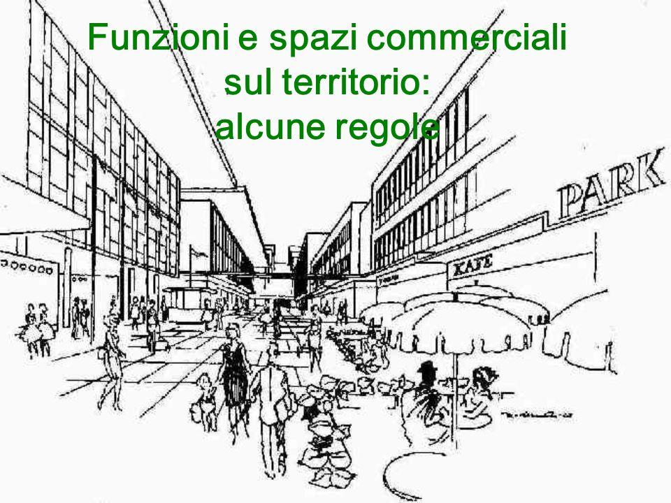 Funzioni e spazi commerciali sul territorio: alcune regole