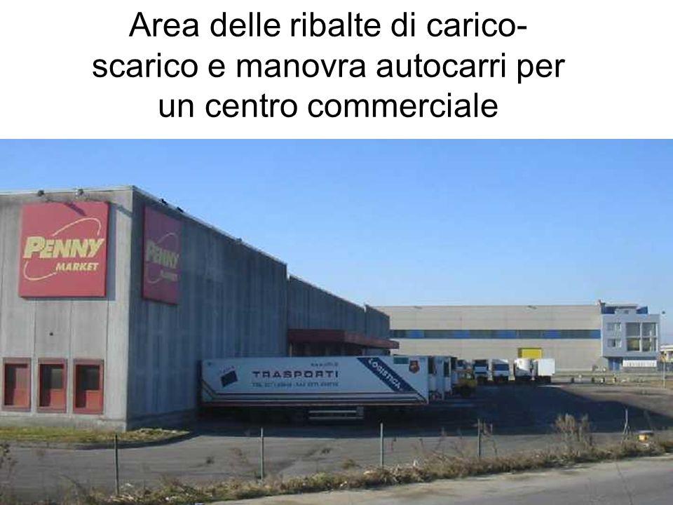 Area delle ribalte di carico- scarico e manovra autocarri per un centro commerciale