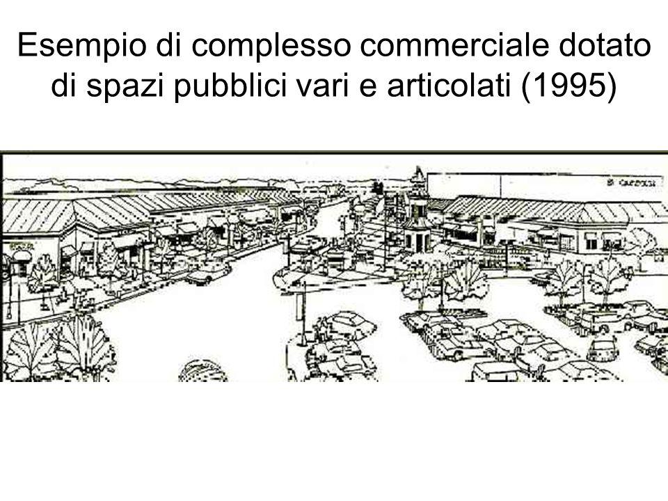 Esempio di complesso commerciale dotato di spazi pubblici vari e articolati (1995)