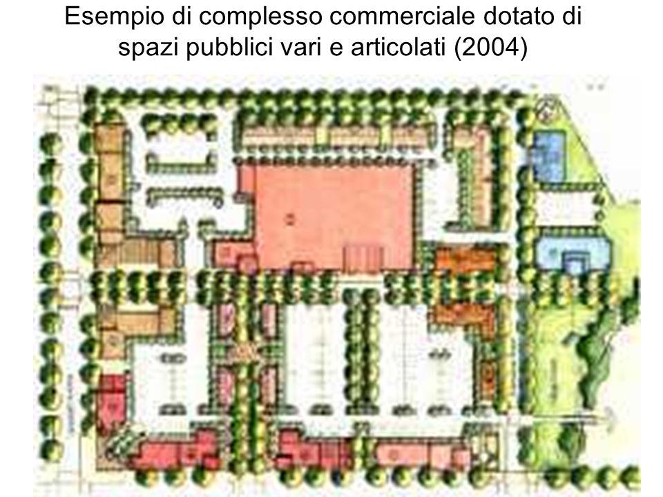 Esempio di complesso commerciale dotato di spazi pubblici vari e articolati (2004)