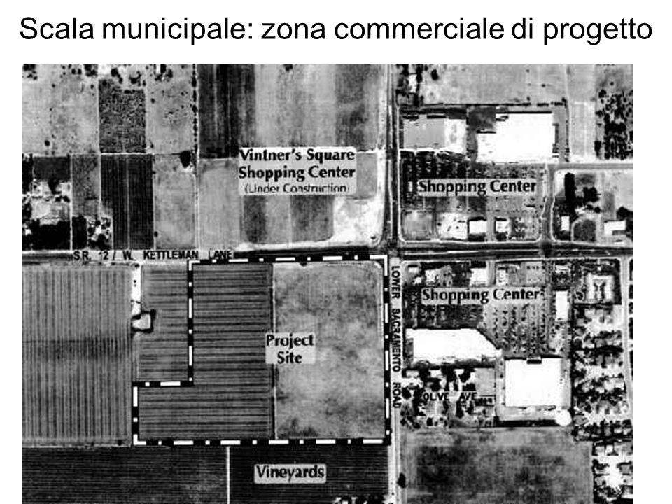 Scala municipale: zona commerciale di progetto
