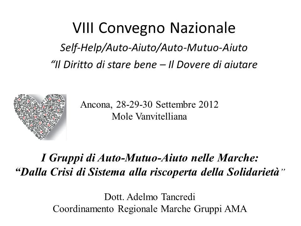 VIII Convegno Nazionale Self-Help/Auto-Aiuto/Auto-Mutuo-Aiuto Il Diritto di stare bene – Il Dovere di aiutare Ancona, 28-29-30 Settembre 2012 Mole Van