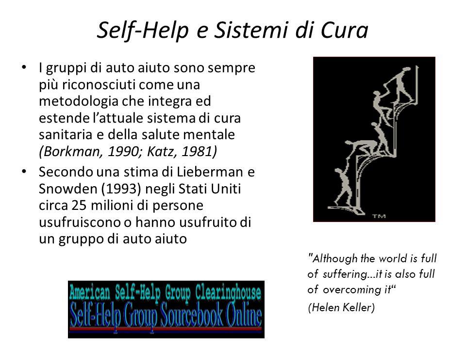 Self-Help e Sistemi di Cura I gruppi di auto aiuto sono sempre più riconosciuti come una metodologia che integra ed estende lattuale sistema di cura s
