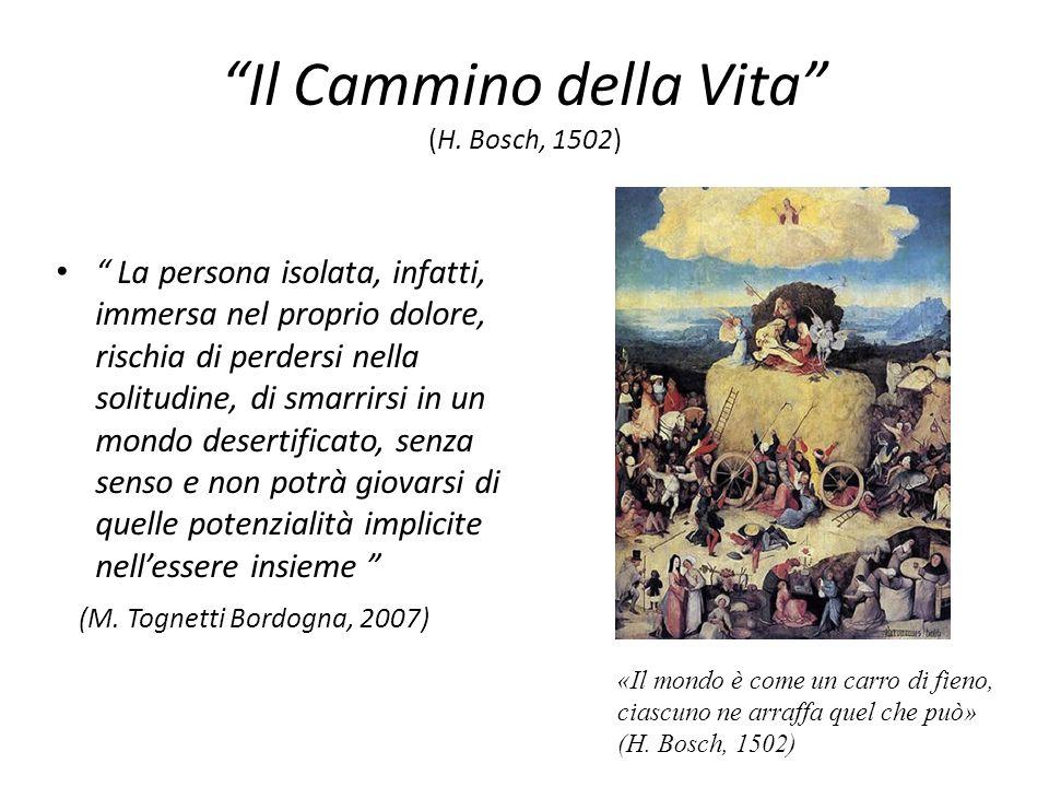 Il Cammino della Vita (H. Bosch, 1502) La persona isolata, infatti, immersa nel proprio dolore, rischia di perdersi nella solitudine, di smarrirsi in