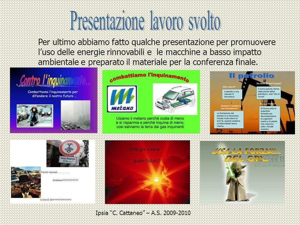 I B OMT Ipsia C. Cattaneo – A.S. 2009-2010
