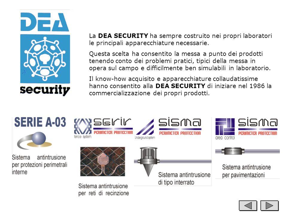 La DEA SECURITY ha sempre costruito nei propri laboratori le principali apparecchiature necessarie. Questa scelta ha consentito la messa a punto dei p