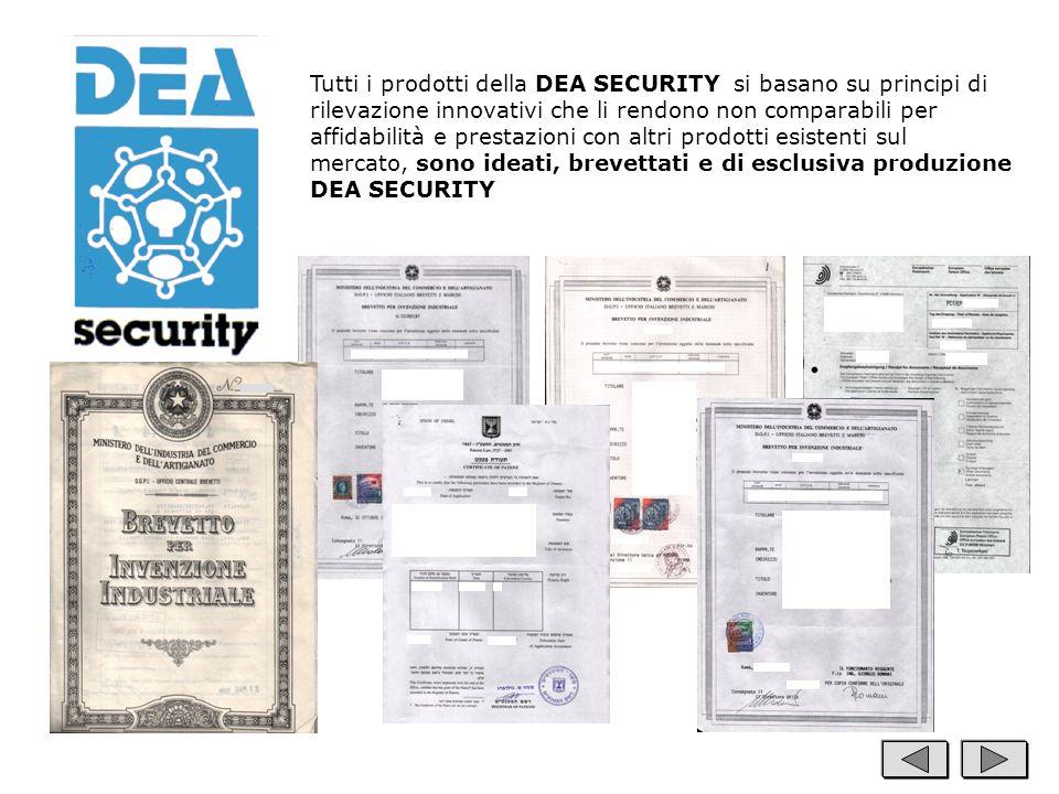 Tutti i prodotti della DEA SECURITY si basano su principi di rilevazione innovativi che li rendono non comparabili per affidabilità e prestazioni con