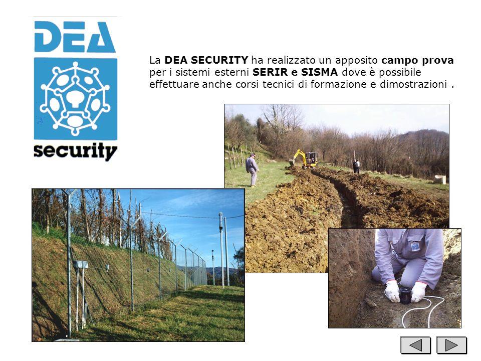 La DEA SECURITY ha realizzato un apposito campo prova per i sistemi esterni SERIR e SISMA dove è possibile effettuare anche corsi tecnici di formazion