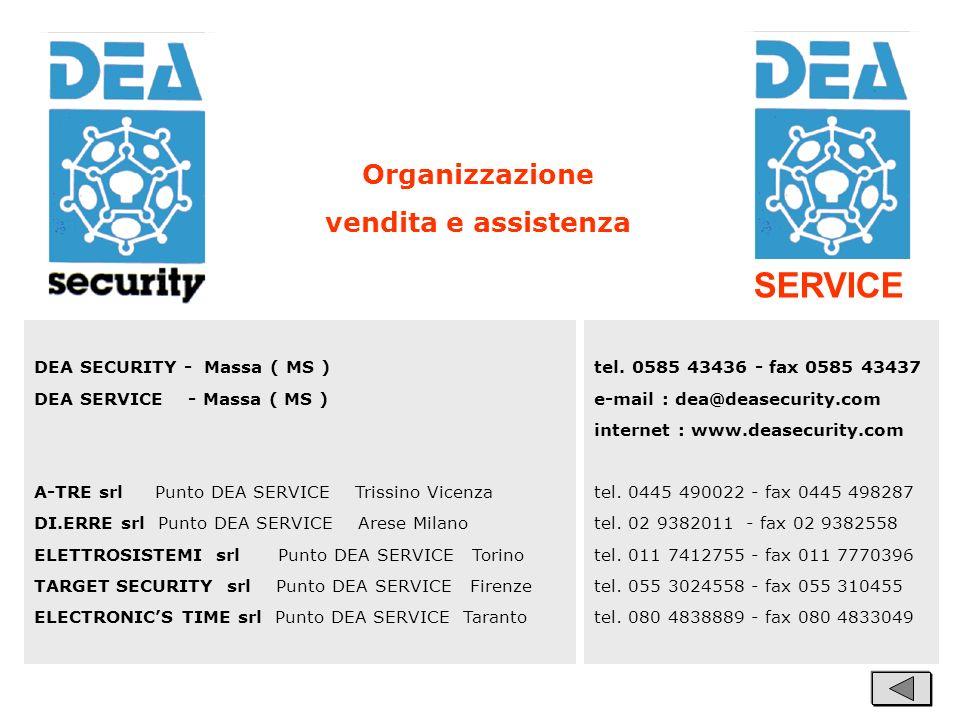 DEA SECURITY - Massa ( MS ) DEA SERVICE - Massa ( MS ) A-TRE srl Punto DEA SERVICE Trissino Vicenza DI.ERRE srl Punto DEA SERVICE Arese Milano ELETTRO