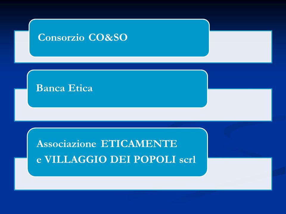 Consorzio CO&SOBanca Etica Associazione ETICAMENTE e VILLAGGIO DEI POPOLI scrl