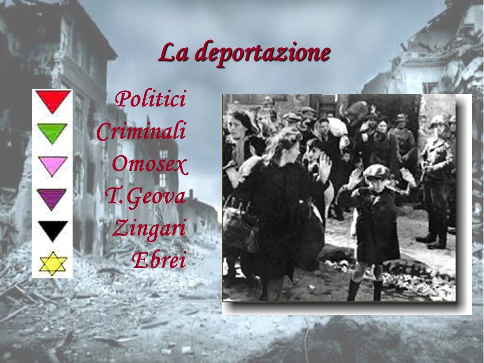 I deportati dimenticati Le leggi razziali di Hitler, e le deportazioni nei campi di sterminio, non furono rivolte soltanto agli Ebrei, ma anche ai malati mentali e handicappati, agli omosessuali e lesbiche e agli zingari.