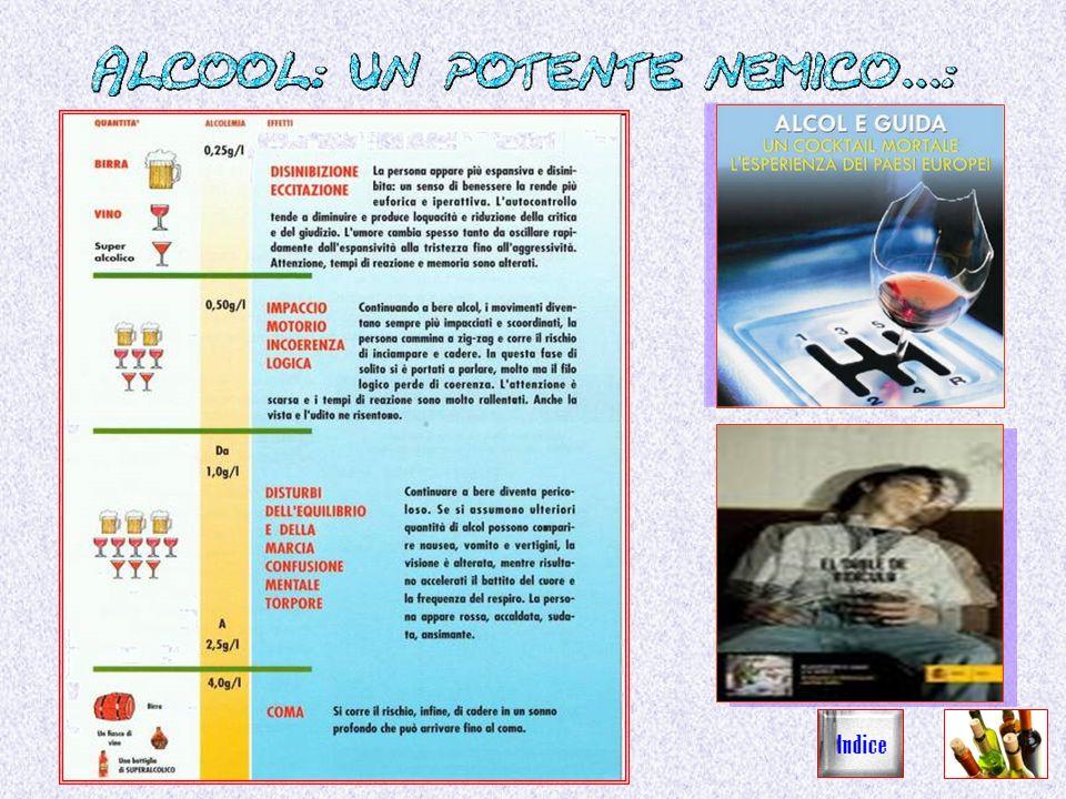 Lalcool ha effetti destabilizzanti sulle persone che si trovano alla guida di autoveicoli, aumentando sensibilmente il rischio di incidenti stradali.