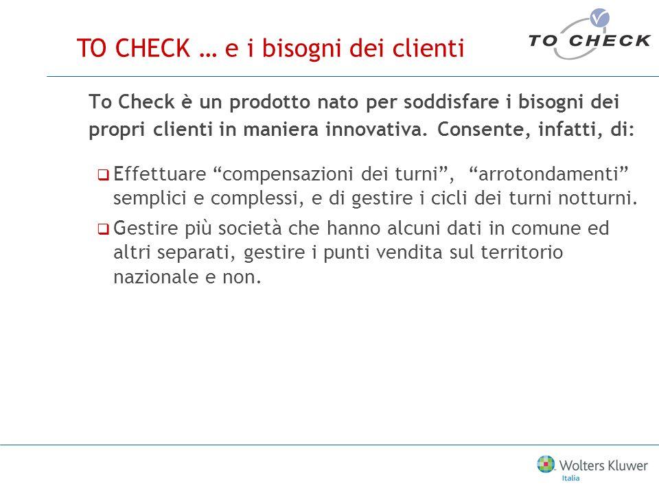 To Check è un prodotto nato per soddisfare i bisogni dei propri clienti in maniera innovativa.