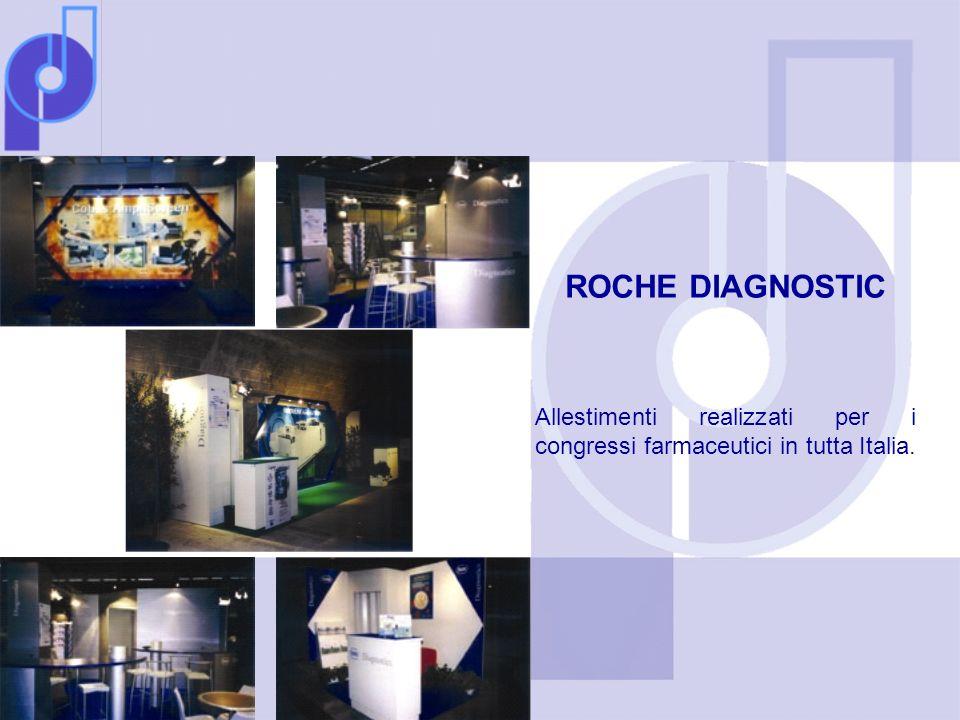 ROCHE DIAGNOSTIC Allestimenti realizzati per i congressi farmaceutici in tutta Italia.