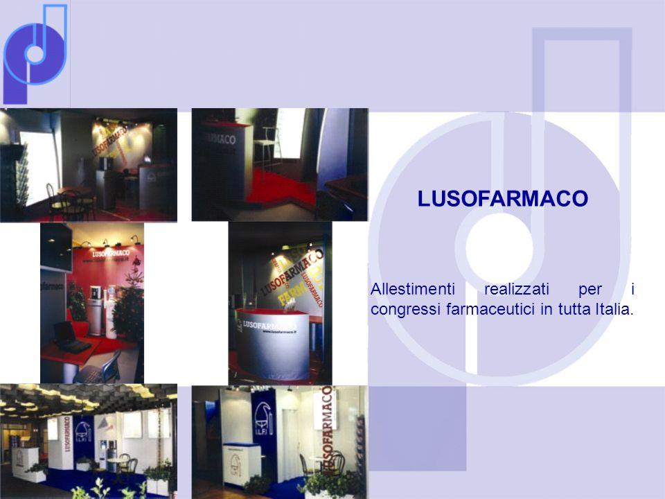 LUSOFARMACO Allestimenti realizzati per i congressi farmaceutici in tutta Italia.