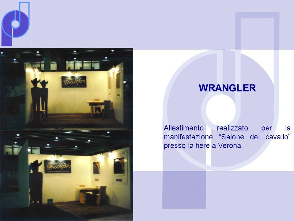 WRANGLER Allestimento realizzato per la manifestazione Salone del cavallo presso la fiere a Verona.