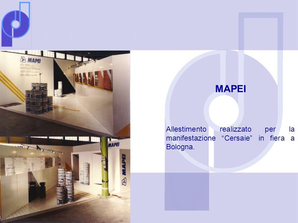 MAPEI Allestimento realizzato per la manifestazione Cersaie in fiera a Bologna.