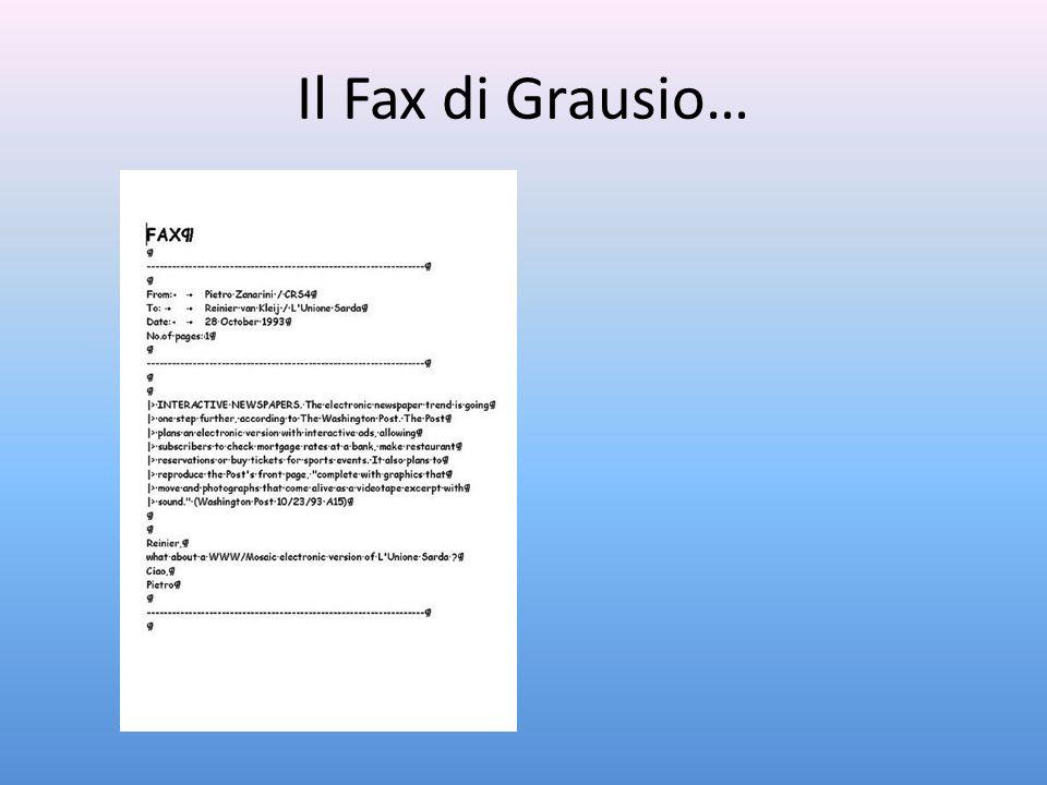 Il Fax di Grausio…