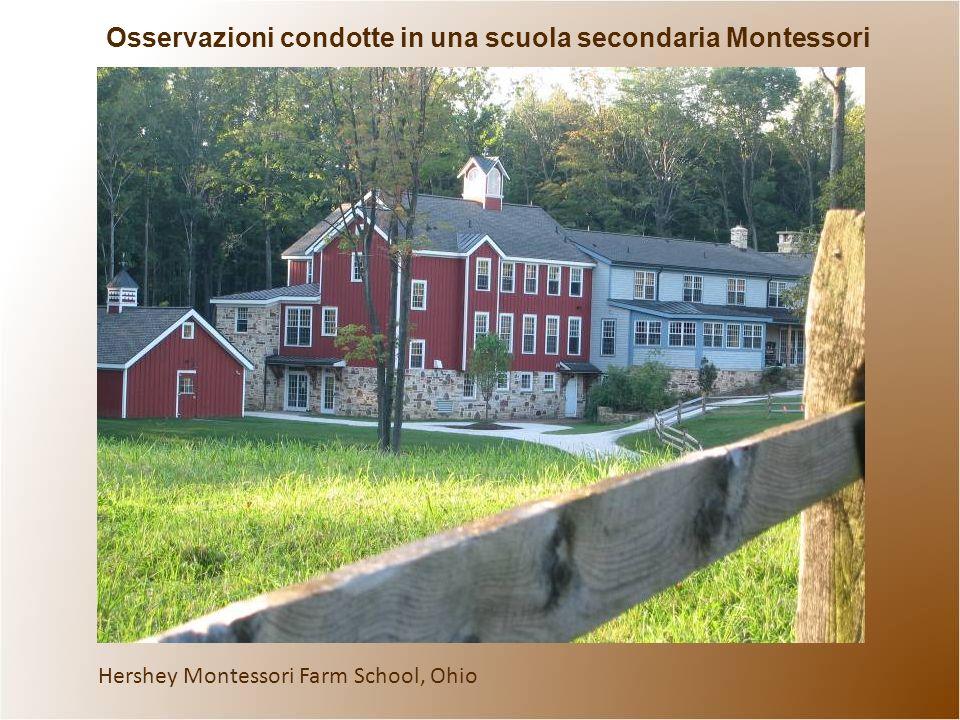 Hershey Montessori Farm School, Ohio Osservazioni condotte in una scuola secondaria Montessori