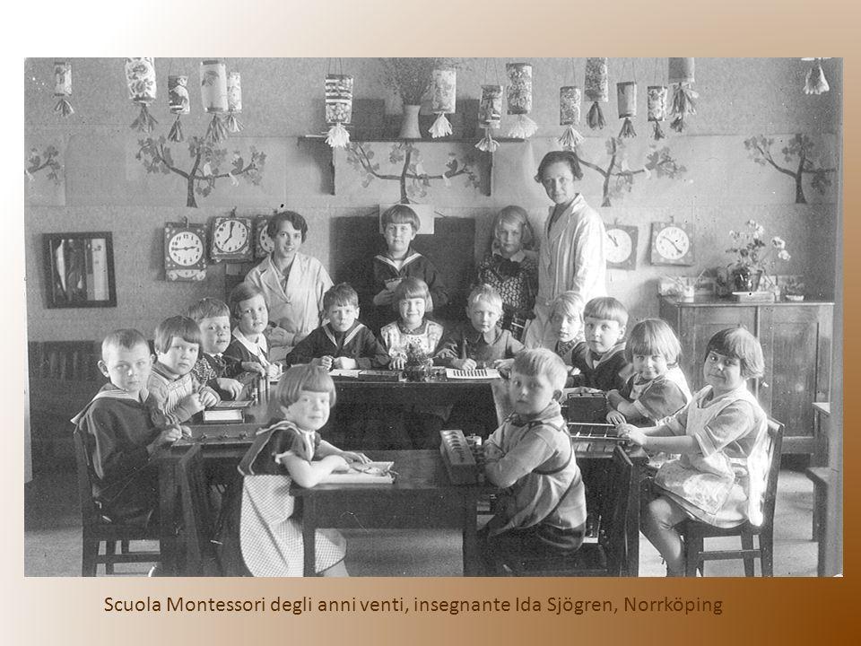 Scuola Montessori degli anni venti, insegnante Ida Sjögren, Norrköping