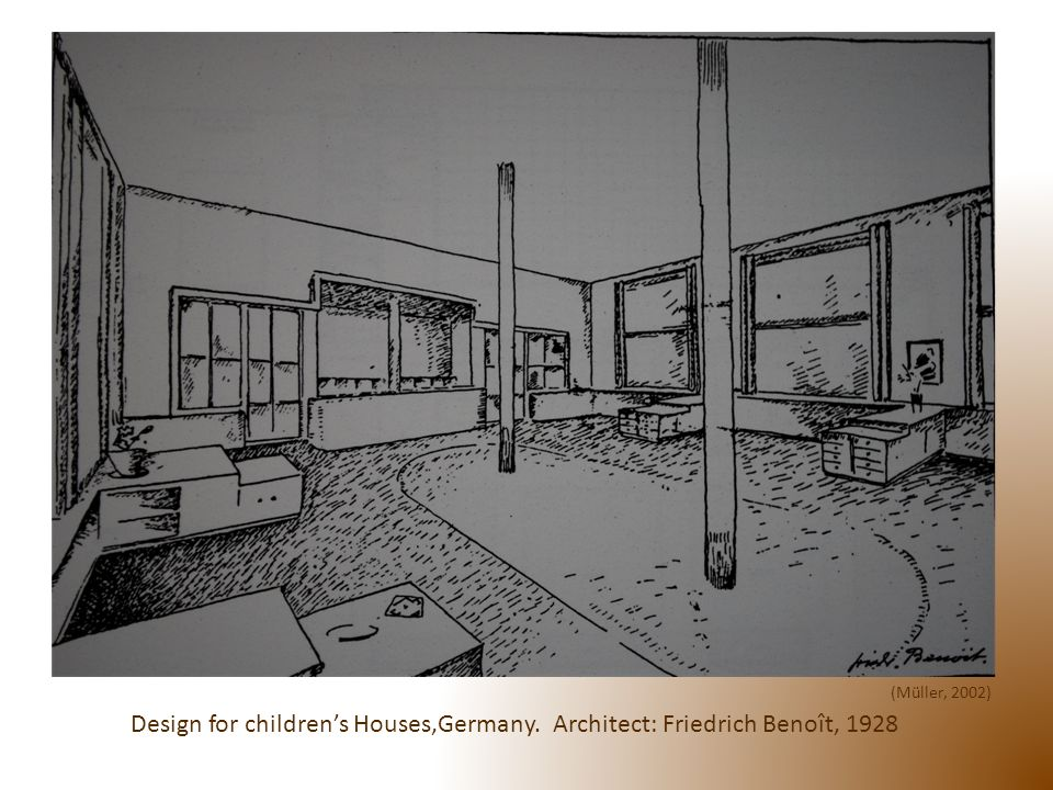 Design for childrens Houses,Germany. Architect: Friedrich Benoît, 1928 (Müller, 2002)