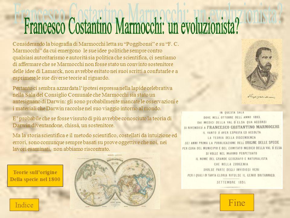 Considerando la biografia di Marmocchi letta su Poggibonsi e su F. C. Marmocchi da cui emergono le sue idee politiche sempre contro qualsiasi autorita