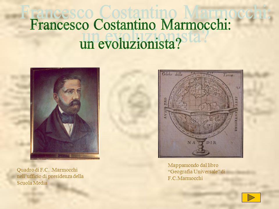 Quadro di F.C..Marmocchi nellufficio di presidenza della Scuola Media Mappamondo dal libro Geografia Universale di F.C.Marmocchi