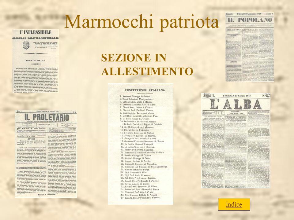 Marmocchi patriota SEZIONE IN ALLESTIMENTO indice