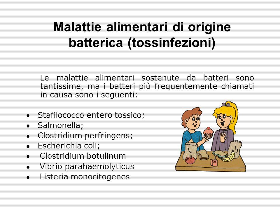 Malattie alimentari di origine batterica (tossinfezioni) 1.Infezione, quando il microrganismo penetra nel corpo delluomo e direttamente provoca la mal