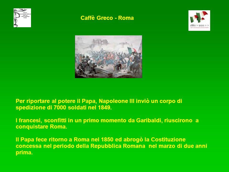 Per riportare al potere il Papa, Napoleone III inviò un corpo di spedizione di 7000 soldati nel 1849.