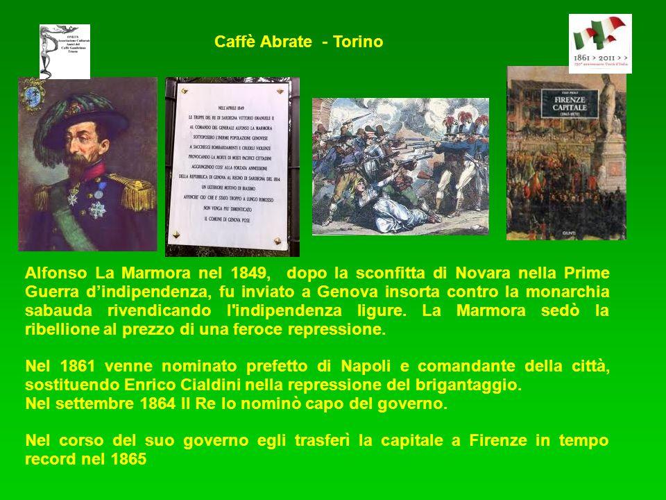 Alfonso La Marmora nel 1849, dopo la sconfitta di Novara nella Prime Guerra dindipendenza, fu inviato a Genova insorta contro la monarchia sabauda riv