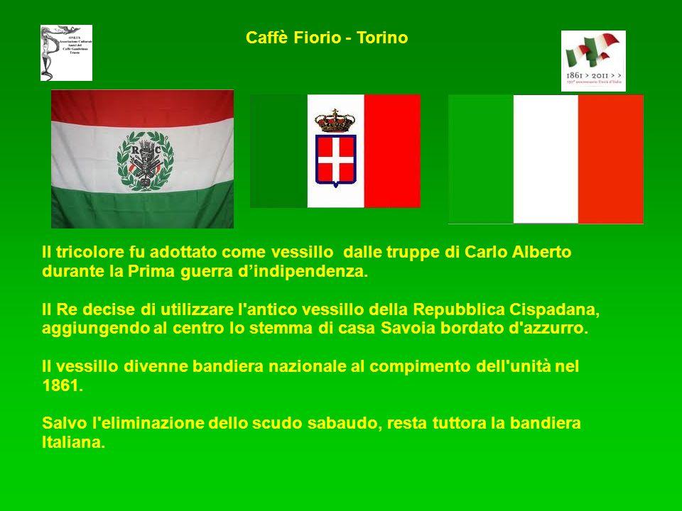 Il tricolore fu adottato come vessillo dalle truppe di Carlo Alberto durante la Prima guerra dindipendenza.